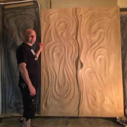 Artistic Projects - Hand Carved Interior Doors in Progress of Work