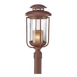 "Murray Feiss - Murray Feiss OL9208 Menlo Park 20.75"" High 1 Light Outdoor Post Lantern - The Menlo Park Collection of outdoor fixtures feature bulbs that are fully enclosed by glass and highly weather resistant.Features:"
