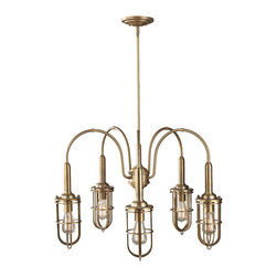Murray Feiss - 5 Urban Renewal 5 Light 1 Tier Chandelier - Bulb Base: Medium (E26). Bulb Wattage: 100. Bulb Count: 5. Bulbs Not Included