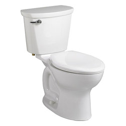 "American Standard - American Standard 215C.A104.020 Cadet Pro Elongated 12"" Rough Toilet, White - American Standard 215C.A104.020 Cadet Pro Elongated 12"" Rough Toilet, White. This vitreous china constructed elongated toilet meets EPA WaterSense criteria, a trade-exclusive tank, a PowerWash rim that scrubs the bowl with each flush, a robust metal left-sided trip lever/metal shank fill valve assembly, an EverClean surface, a 4"" piston-action Accelerator flush valve, a 12"" Rough-in, a chrome finish trip lever, and a fully-glazed 2-1/8"" trapway."