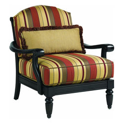 Lexington - Tommy Bahama Kingstown Sedona Lounge Chair - The cushion set includes a 27 x 12 inch kidney pillow that provides lower back support but also allows for custom details whether contrasting fabric, decorative cord or decorative fringe. See store for Final Touch no charge options.