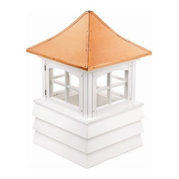 Good Directions Guilford Vinyl Cupola - It's the perfect complement to your one-car garage or gazebo. Our expertly crafted Guilford windowed cupola features timeless American style. It's made in the USA from durable PVC-vinyl for many years of enjoyment. The pagoda-style, polished copper roof adds an architectural element of beauty. Includes an easy-to-follow installation guide. For a really distinctive finishing touch, add a Good Directions weathervane or finial!