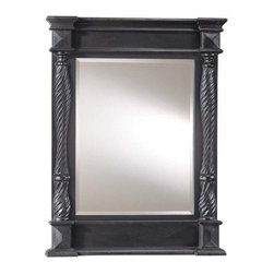 """Ambience - Ambience AM 56591 Traditional/Classic Rectangular Mirror from the Vanities Colle - *Classic Rectangular Mirror finished in Lexington BlackDimensions: 40"""" H x 30"""" W x 3"""" D"""
