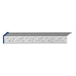 "Inviting Home - Stonington Crown Molding - Stonington decorative crown molding 5-1/2""H x 2-1/4""P x 6""F x 7'10""L 4 piece minimum order required crown molding specifications: - outstanding quality crown molding made from high density polyurethane: environmentally friendly material is hypoallergenic and fully recyclable no CFC no PVC no formaldehyde; - front surface of this molding has extra durable and smooth surface; - crown molding is pre-primed with water-based white paint; - lightweight durable and easy to install using common woodworking tools; - metal dies were used for consistent quality and perfect part to part match for hassle free installation; - this crown molding has sharp deep and highly defined design; - matching flexible molding available; - crown molding can be finished with any quality paints; Polyurethane is a high density material--it's extremely lightweight and easy to install (and comes primed and ready to paint). It is a green material meaning its CFC and formaldehyde free. It is also moisture resistant--so it won't shrink flex or mold. What's also great about Polyurethane is that it's completely customizable and can be treated as wood (you can saw it nail it screw it and sand it). In addition our polyurethane material comes primed and ready to paint. There is a four piece minimum requirement for this molding purchase."