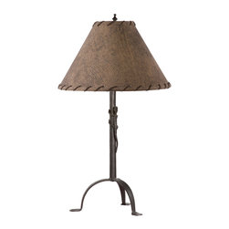 Stone County Iron Works - Gecko Natural Black Table Lamp - Stone County Iron Works 901-651 Gecko Natural Black Lodge/Rustic Table Lamp