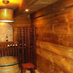 Barn Style Wine Cellar in a Box - Wine Room Design