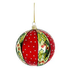 Silk Plants Direct - Silk Plants Direct Glitter Holly Glass Ball Ornament (Pack of 2) - Pack of 2. Silk Plants Direct specializes in manufacturing, design and supply of the most life-like, premium quality artificial plants, trees, flowers, arrangements, topiaries and containers for home, office and commercial use. Our Glitter Holly Glass Ball Ornament includes the following: