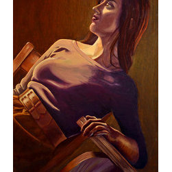 Hold On (Original) by Mary Gowen - Gripping for security, waiting for change, this is a portrait of hope.
