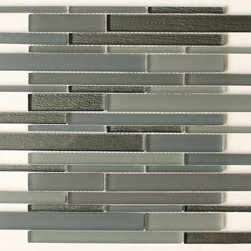 Bahia Smoke Glass Mosaic Tiles - Smoky like jazz, comforting as cashmere, these alluring, gray mosaic tiles will give you a thrill of delight. Spangle the kitchen backsplash or bathroom with their slender, glossy and matte rectangles for an easy refresh. Though they may take your breath away, they'll also breathe new life into your room.