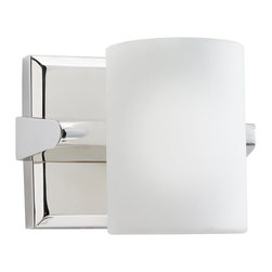 KICHLER - KICHLER 5965PN Tubes Modern / Contemporary Wall Sconce - Sleek and contemporary. A satin etched white glass cylinder is set into a carved scoop that lines the edge of an extruded support bar. The finish is a polished nickel which complements warmer interiors. 1 light, 60 watt max. G9 (lamp included). U.L. listed for damp location. U.S. Patent Pending