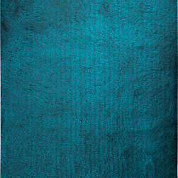 """Surya - Surya Heaven HEA-8004 (Sea Blue) 2'3"""" x 8' Rug - With a rich, solid color scheme, the radiant rug will fashion a contemporary masterpiece sure to impress within your home! Fashioning a feel of utter and complete contentment underfoot, this piece redefines your space, creating a heavenly haven that effortlessly radiates charm in any space."""