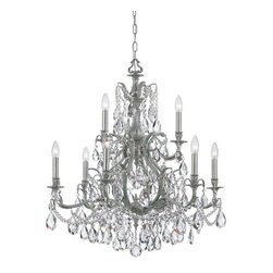 Crystorama Lighting - Crystorama Lighting 5579-PW-CL-MWP Dawson Traditional Chandelier in Pewter - Crystorama Lighting 5579-PW-CL-MWP Dawson Traditional Chandelier In Pewter With Clear Hand Cut Crystal