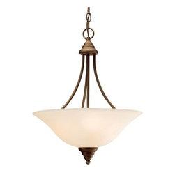 Kichler - Kichler 3277OZ Telford 3-Bulb Indoor Pendant with Bowl-Shaped Glass Shade - Kichler 3277 Telford Pendant