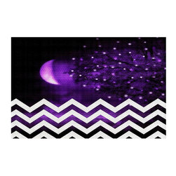 DiaNoche Designs - Purple Moon Chevron Area Rug - Finish off your bedroom or living space with a woven Area Rug with Chevron pattern  from DiaNoche Designs. The last true accent in your home decor that really ties the room together. Maybe its a subtle rug for your entry way, or a conversation piece in your living area, your floor art will continue to dazzle for many years. 1/4 thick. Each rug is machine loomed, washed and pre-shrunk, printed, then hemmed on the edges.   Spot treat with warm water or professionally clean. Dye Sublimation printing adheres the ink to the material for long life and durability