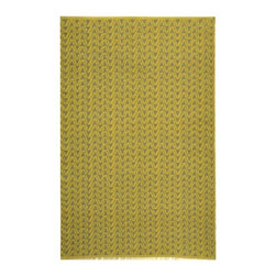 Safavieh - Thom Filicia Ackerman Sunflower Outdoor Rug (4' x 6') - This indoor outdoor rug has a yellow background and displays stunning panel colors of yellow and grey. This handwoven rug is made from recycled plastic bottles and resistant to mold,mildew,sun,water and other elements.
