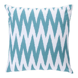 Surya Rugs - 18-Inch Square Turquoise and White Striped Cotton Pillow Cover with Poly Insert - - 18 x 18 100% Cotton Pillow Cover w/ Poly Insert.   - For more than 35 years, Surya has been synonymous with high quality, innovation and luxury.   - Our designers have masterfully created some of the most cutting edge and versatile pieces to bring out the best in every room.   - Encompassing their expert understanding of the latest trends in fashion and interior design, each product is a perfect combination of color, pattern and texture to accommodate the widest range of tastes.   - With Surya, the best in design and quality is at your fingertips.   - Pantone: Turquoise, White.   - Made in India.   - Care Instructions: Spot Clean.   - Cover Material: 100% Cotton.   - Fill Material: Poly Fiber. Surya Rugs - LG522-1818P