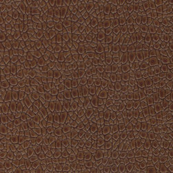 EcoDomo Ranforest Collection - Mini Croc Copper Leather Tiles - Recycled leather tile mounted on HDF core and finished in a floating floor format.  Suitable for commercial and residential floor installations. EcoDomo Leather floating floors feature glue-less interlocking tongue and groove system.