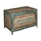 Sierra Living Concepts - Reclaimed Wood & Iron Storage Trunk - Now you can keep all your favorite things close at hand with our Reclaimed Wood & Iron Storage Trunk. This multi-use storage box is built on a sturdy iron frame with reclaimed hardwood from Gujarat.