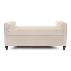 "Howard Elliott - Howard Elliott Sterling Sand Cosmopolitan Daybed - Lounge in style on our Cosmopolitan Daybed. Its sturdy size and construction make it perfect for any sitting room. With built in bolsters and large cushion you may want to take a nap! Seat height is 22"". The high-style design and high-end materials in the accent furniture are what set Howard Elliott apart from the competition. Howard Elliott's innovative product line is carefully designed and packaged to ensure low damage rates for their high quality and custom items. Finish/Frame/Fabric Description: This Sterling Sand piece is 100% Polyester finished in a soft burlap sand color. Material: 100% Polyester. Product Dimensions: 66""W x 36""D x 30""H."