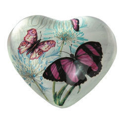 "GSC - 4 Inch Heart Shaped ""Dream"" Design Paper Weight with Pink Butterflies - This gorgeous 4 Inch Heart Shaped ""Dream"" Design Paper Weight with Pink Butterflies has the finest details and highest quality you will find anywhere! 4 Inch Heart Shaped ""Dream"" Design Paper Weight with Pink Butterflies is truly remarkable."