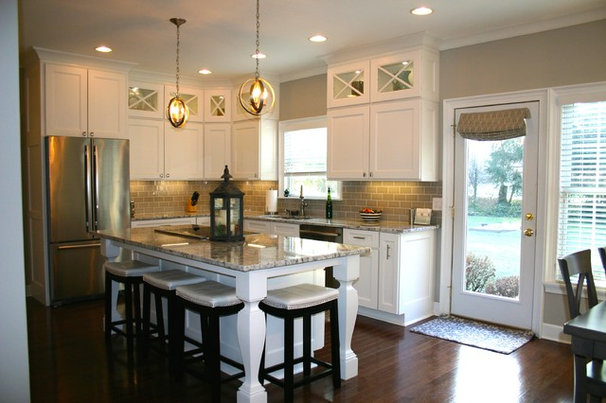Plus, large bulkheads pushed the cabinets down, making things feel a ...