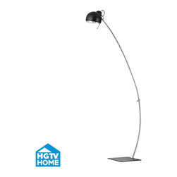 Dimond - One Light Matt Black, Metal Shade Black, Chrome Floor Lamp - One Light Matt Black, Metal Shade Black, Chrome Floor Lamp