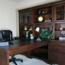 Mediterranean Home Office by Belman Homes