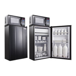 MicroFridge - MicroFridge 403637 3.6 cu. ft. Refrigerator and .7 cu. ft. Microwave Oven - Blac - Shop for Compact from Hayneedle.com! Save counter space and keep your favorite foods and drinks nearby with the MicroFridge 403637 3.6 cu. ft. Refrigerator and .7 cu. ft. Microwave Oven - Black. The 3.6 cubit foot capacity refrigerator has a freezer two shelves for plenty of storage an auto-defrost and stay cool glacier white interior. The mounted microwave features an easy-to-read LED display clock and removable glass carousel for easy cleaning.About AvantiAvanti has been a leader in the Consumer Appliance Industry for over 30 years. They specialize in compact to full-sized refrigerators upright and chest freezers wine coolers water dispensers and more. Avanti's reputation has been built by providing quality products at a great value. They are known for our compact refrigerators for the home office and dormitory. Avanti compact refrigerators have become popular with hotel chains nationwide as in-room refrigerators and refreshment centers.