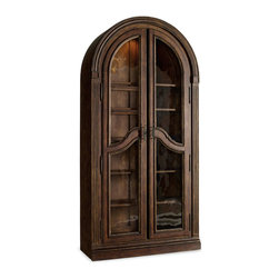 Hooker Furniture - Hooker Furniture Adagio Bunching Curio 5091-50001 - Grand scale, classic design and soft, flowing shapes are married with a rich, dark finish to give birth to the stunning Adagio collection.