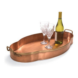 Scallop Copper Tray - Grandin Road