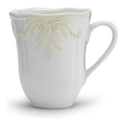 Lenox - Lenox Butler's Pantry Gourmet 16-Ounce Mug - Mix and match these lovely pieces with other members of Butler's Pantry Gourmet and Butler's Pantry. Crafted of stoneware, the dinnerware pattern is distinguished by its gently scalloped edges and exquisite sculpting.