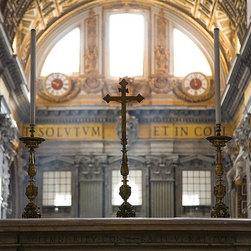 Magic Murals - Alter Inside St. Peter's Basilica Vatican Wallpaper Wall Mural - Self-Adhesive - - Alter Inside St. Peter's Basilica Vatican Wall Mural