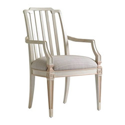Stanley Furniture - Preserve-Marshall Arm Chair - The Chinese Chippendale motif and upholstered seat of a Marshall Arm Chair encourage lively conversation and lingering long after the meal.