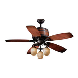 "Vaxcel Lighting - Vaxcel Lighting FN52455 Cabernet 52"" 5 Blade Indoor Ceiling Fan with Reversible - Features:"