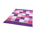 "Blancho Bedding - Plaids - Purple & Pink Soft Coral Fleece Patchwork Throw Blanket  59""-78.7"" - This Coral Fleece Patchwork Throw Blanket measures 59 by 78.7 inches. Comfort, warmth and stylish designs. Whether you are adding the final touch to your bedroom or rec-room these patterns will add a little whimsy to your decor. This Coral Fleece Patchwork throw blanket will make a fun additional to any room and are beautiful draped over a sofa, chair, bottom of your bed and handy to grab and snuggle up in when there is a chill in the air. They are the perfect gift for any occasion! Keep one in your car for staying warm at  outdoor sporting events. Place one on your couch or favorite upholstered chair. Have extras on hand for sleepovers and overnight guests. Machine wash and tumble dry for easy care. Will look and feel as good as new  after multiple washings!"