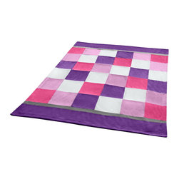 """Blancho Bedding - [Plaids - Purple & Pink] Soft Coral Fleece Patchwork Throw Blanket (59""""-78.7"""") - This Coral Fleece Patchwork Throw Blanket measures 59 by 78.7 inches. Comfort, warmth and stylish designs. Whether you are adding the final touch to your bedroom or rec-room these patterns will add a little whimsy to your decor. This Coral Fleece Patchwork throw blanket will make a fun additional to any room and are beautiful draped over a sofa, chair, bottom of your bed and handy to grab and snuggle up in when there is a chill in the air. They are the perfect gift for any occasion! Keep one in your car for staying warm at  outdoor sporting events. Place one on your couch or favorite upholstered chair. Have extras on hand for sleepovers and overnight guests. Machine wash and tumble dry for easy care. Will look and feel as good as new  after multiple washings!"""