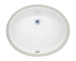 "Xylem - Xylem 18 Inch Undermount Oval Ceramic Sink, White (CUM177OV) - Xylem CUM177OV 18"" Inch Undermount Oval Ceramic Sink, White"