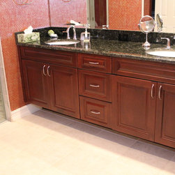 , FL - With all custom wood doors and drawer fronts. Master bathroom ...