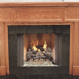 Wood Fireplace Mantel - A mantel with panel appearance lends itself to be installed in a library or any other big room.