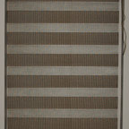 "CustomWindowDecor - 72"" L, Basic Dual Shades, Brown, 62-5/8"" W - Dual shade is new style of window treatment that is combined good aspect of blinds and roller shades"