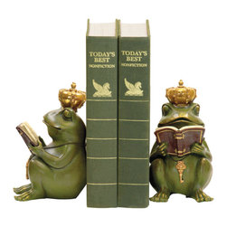 Sterling Industries - Sterling Industries 7-8188 Pair Superior Frog Gatekeeper Bookends - Bookend (2)