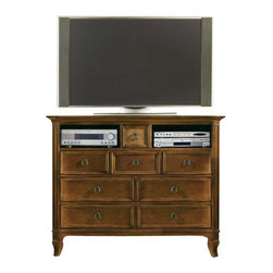 Hooker Furniture - Hooker Furniture Windward 8-Drawer Media Chest in Light Brown Cherry - Hooker Furniture - Chests - 112591011 - Envision furniture with a relaxed and laid back feeling.