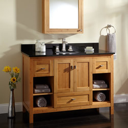 """48"""" Alcott Bamboo Vanity for Undermount Sink - Offering plenty of space to prepare for your day, the 48"""" Alcott Bamboo Vanity features versatility and ample storage."""