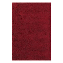 Momeni - Momeni Comfort Shag Cs10 Red Rug - Cshagcs - Reminiscent of the shag rugs of the 1970?s, Comfort Shag is a modern take on a classic. Hand-tufted of 100% mod-acrylic, these rugs feature a soft hand and a thick, rich pile.