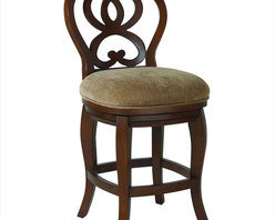 "Hammary - Hidden Treasures Counter Height Barstool - ""Hammary's Hidden Treasures collection is a fine assortment of unique accent pieces inspired by some of the greatest designs the world over. Each selection is rich in Old World icons and traditions."