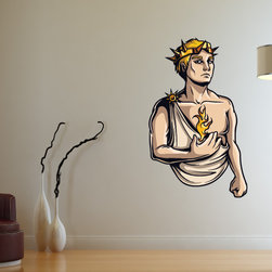 Greek God Vinyl Wall Decal GreekGodUScolor007; 72 in. - Vinyl Wall Decals are an awesome way to bring a room to life!