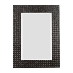 Home Decorators Collection Murphy Wood Framed Mirror - This industrial-inspired mirror has a pebble-style border and is made from painted wood, perfectly combining rustic with industrial.