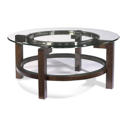 Bassett Mirror - Round Cocktail Table - Glass top. 38 in. Dia. x 18 in. H
