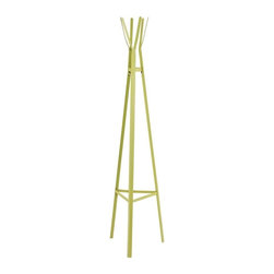 Southern Enterprises - Heights Hall Tree - Lime Green - Refresh your home with contemporary, vibrant color with this metal hall tree. The modern design and bright green of this hall tree inspire an enchanting mood and fun sense of style in any home. Clean, modern lines and simple design merge in this playful hall tree. The triangular base tapers up to the top, creating a pyramid. The shape provides stability and design, while the hanging hooks offer a charming storage solution in a pretty package. This metal hall tree is perfect for homes with contemporary and modern decor. Add this hall tree to your entryway, hall, or any spot you hang your hat!