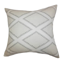 "The Pillow Collection - Alaric Geometric Pillow Gray - Update the look of your living space with this chic and modern accent pillow. This throw pillow is a great addition to your sofa, bed or seat. Adorned with a geometric pattern in soft gray hue, this 18"" pillow blends well with other colors and patterns. Made of 100% high-quality linen fabric. Hidden zipper closure for easy cover removal.  Knife edge finish on all four sides.  Reversible pillow with the same fabric on the back side.  Spot cleaning suggested."